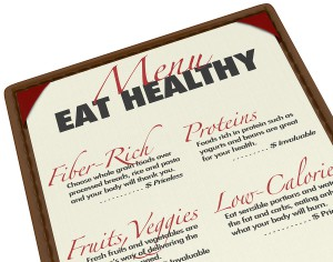 Eat healthy with this menu of food items that are good for you,